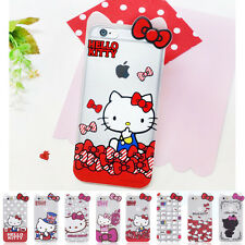 Hello Kitty Inmold Clear Shockproof Bumper Cover Case For Apple iPhone 5 / 5S