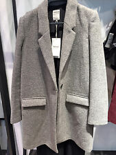 ZARA WOOL MASCULINE COAT GREY XS-XL  Ref.. 1255/228