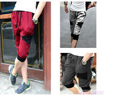 Mens Summer Baggy Harem Pants Sports Casual Cropped Pants Loose Trousers YFB0005