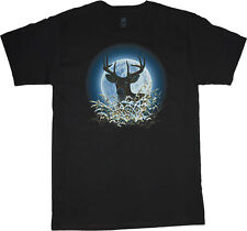 big and tall t-shirt buck deer moon hunting nature tee shirt tall shirts for men
