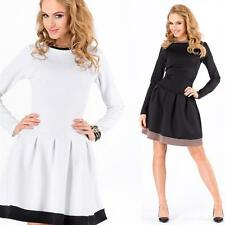 Tunic Mini Dress with 2 Colours ruching top Size S M L, M173