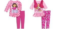 Paw Patrol or Dora the Explorer Toddler Girls 2 Piece Outfit Size -3T,4T ,5T NWT
