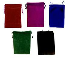 "Pouch 5"" x 7"" ~Velveteen   Black-Blue-Red-Purple-Green-Burgundy"