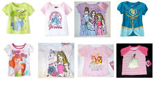 Disney Princesses Toddler Girls T-Shirts Cinderella Ariel More Various Sizes NWT