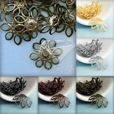 20g Approx 30-45Pcs Iron Flower Bead Caps DIY 21x21mm Crafts Jewelry Findings