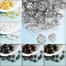 Approx 70-80Pcs Filigree Flower Bead Caps 4x6x6mm DIY Jewelry Findings 6 Colors