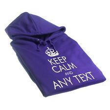 PERSONALISED PRINTED KEEP CALM AND YOUR TEXT HOODIE