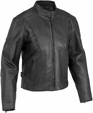 River Road Womens Race Vented Leather Jacket 2013