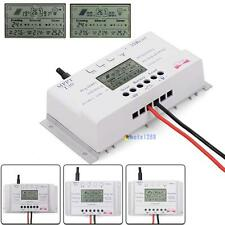 LCD 10/20/30/40A 12/24V MPPT Solar Panel Regulator Charge Controller 3 Timer WTC
