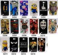 for Samsung Galaxy Note 1 N7000 I9220 9220 Case Cover Owl Tower Fish Tiger Hard