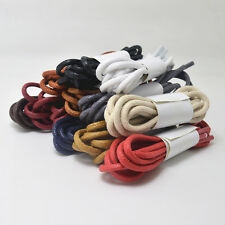 Round Coloured Waxed Thin Cotton Shoe Laces Shoelaces 2.5mm wide LOTS OF Length