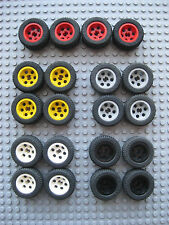 Lego 30.4x14 VR Technic Tire Split Axle 4pc Lot -Pick your Color-