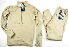 NEW POLARTEC GEN III LEVEL 2 ECWCS TOP & BOTTOM SET DESERT TAN