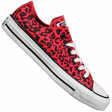 CONVERSE ALL STAR CHUCKS TAYLOR OX CT DIVA SHOES PINK LEOPARD 143955F
