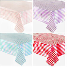 CHECK TABLECOVER BIRTHDAY WEDDING PARTY SUPPLIES DECORATIONS TABLECLOTH PINK RED