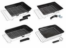 Universal Oven Cooker Grill Pan Tray Complete with Steel Wire Rack and Handle