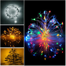 20-50 LED BATTERY POWER MICRO SILVER WIRE STRING FAIRY PARTY XMAS WEDDING LIGHTS