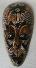 Mask Wall mask Wood handpainted various motifs and Lengths Multicoloured Modern