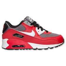 (307794-602) PRE-SCHOOL NIKE AIR MAX 90 UNIVERSITY RED/WHITE/METALLIC COOL GREY