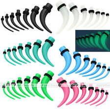 Punk 2-10mm Acrylic Horn Ear Taper Plugs Tunnels Expander Stretcher Earlet Gauge