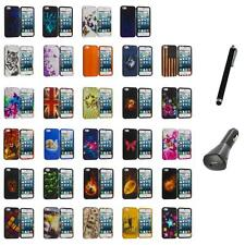 For iPhone 5S 5 5G Hard Snap-On Design Rubberized Case Cover Skin+Charger+Pen