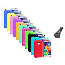 For Samsung Galaxy S5 SV Silicone Soft Rubber Case Color Cover+Car Charger