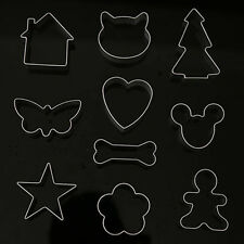 5 Pcs Cookie Biscuit Cutter Cake Decorating Chocolate Jelly Bread Mold Tool