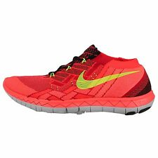 Nike Free 3.0 Flyknit Red Crimson Mens Running Shoes Run Sneakers 718418-006