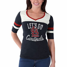 '47 St. Louis Cardinals Women's Navy Gameday Debut V-Neck T-Shirt