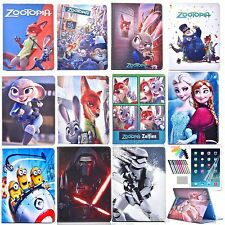 For Apple iPad 2nd 3rd 4th Gen. tablet leather case cartoon star wars zootopia