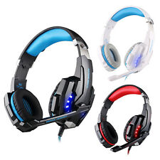 3.5mm Gaming Headphone Headset Earphone with Mic LED Light For PC Laptop PS4