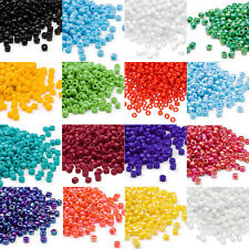 Lot of 340 Matsuno Dyna-Mites 6/0 #6 Glass Spacer Seed Beads in Opaque Colors
