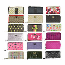 NWT Auth Coach Signature Zip Around Long Accordion Wallet Pick a Design