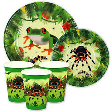 Creepy Crawly / Reptile Party 7in & 9in Plates and Cups Pack