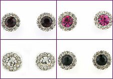 New Colour Clear Austrian Crystal 10 mm Round Stud Earrings in Gift Box