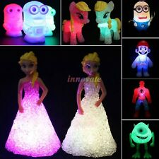 Doll Colorful Led Changing Night Light Table Lamp Decor Kids Toys Birthday Gift