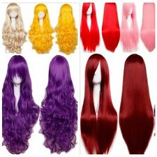 65 cm Fashion Full Wigs Long Straight Curly Wave Anime Wig Cosplay Party Costume