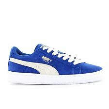 Puma High Risked Suede Blue White Boys Girls Youths Trainers Sneakers