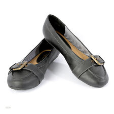 Ladies Ex High Street Wide EEE Fit Black Brown Flat Casual Shoes Size 4 to 10