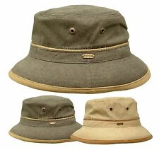 STETSON COTTON CANVAS BUCKET HAT SAFARI OUTBACK FISHING SUMMER BEACH