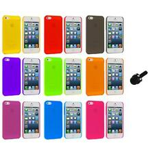 Ultra Thin 0.5mm Color Transparent Matte Case Cover+Mini Stylus for iPhone 5 5S
