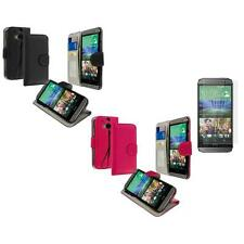 For HTC One 2 M8 Wallet Flip Pouch Case Cover Matte Screen Protector