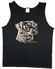 Men's tank top Black Lab dog breed sleeveless tee black t-shirt