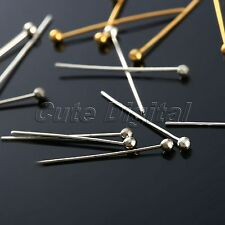100Pcs 20mm Plated Ball Head Pins Connector Jewelry Making Findings DIY Crafts