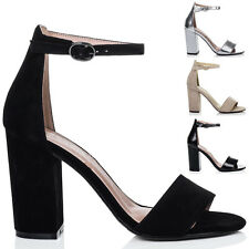 Womens Open Peep Toe Block Heel Sandals Pumps Shoes Sz 5-10