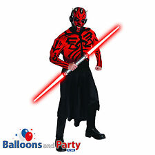 Adult Deluxe Star Wars Darth Maul Fancy Dress Halloween Costume And Mask