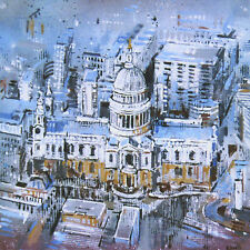 Digital Canvas Block Print, Cathedral, Abstract, Architecture, London, Urban
