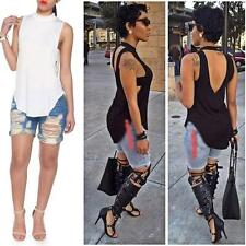 New Sexy Womens Ladies Sleeveless T Shirts Blouse Top Club Tank Tops Size 8-12