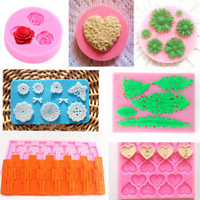Silicone Fondant Molds Sugar Art Moulds DIY Candy Cake Baking Decorating Tools