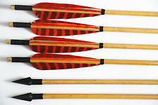 Turkey Feather Wood Arrow Shaft Archery Hunting Recurve Bow Outdoor 33""
